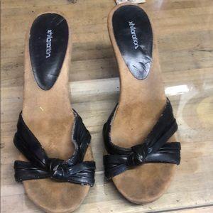 Xhilaration Black Heel Size 10